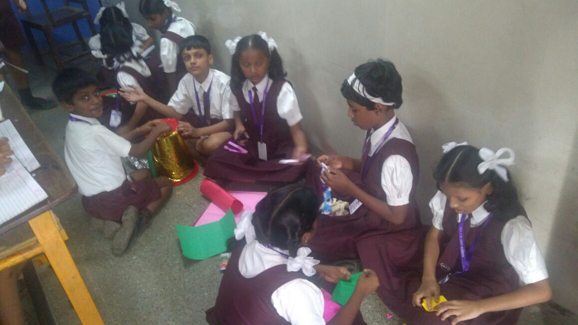 students were given the topics for the competition they are save girl child save water gender equality and green mumbai they made beautiful posters and